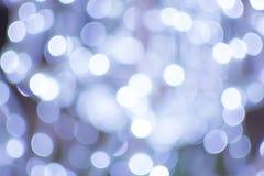 Blauwe bokeh abstracte lichte achtergronden Royalty-vrije Stock Afbeeldingen