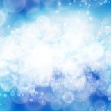 Blauwe bokehachtergrond Stock Afbeelding