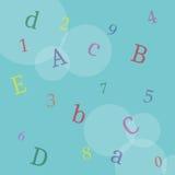 Blauwe bokehachtergrond Stock Afbeeldingen
