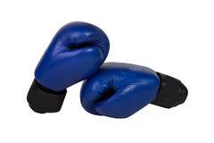 Blauwe bokshandschoenen Royalty-vrije Stock Afbeelding