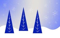 Blauwe bomen Stock Afbeelding