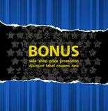 Blauwe bonus Stock Foto