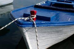 Blauwe boot Stock Fotografie