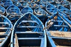 Blauwe boten Stock Afbeelding