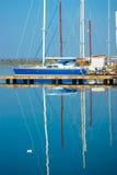 Blauwe boten Royalty-vrije Stock Afbeelding