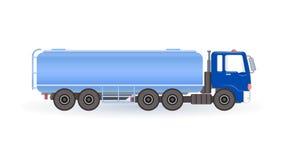Blauwe brandstoftanker Royalty-vrije Stock Afbeeldingen