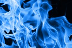 Blauwe brandvlammen Royalty-vrije Stock Foto's