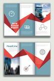 Blauwe brochure1 Stock Foto's