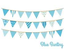 Blauwe Bunting stock illustratie