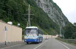 Blauwe bus Stock Foto's