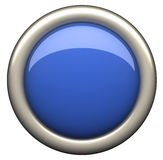 Blauwe buton Stock Afbeelding
