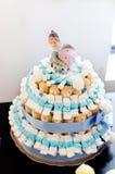 Blauwe cake Stock Foto's