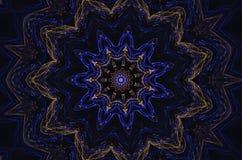 Blauwe caleidoscoop Royalty-vrije Stock Fotografie