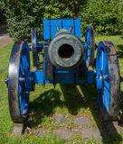 Blauwe canon bij vesting Bourtange Stock Afbeelding