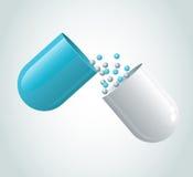 Blauwe capsule Royalty-vrije Stock Afbeelding