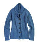 Blauwe cardigan royalty-vrije stock foto