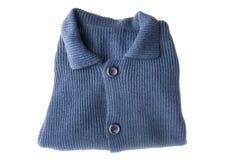 Blauwe cardigan royalty-vrije stock afbeeldingen