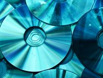 Blauwe CD Stock Foto