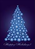 Blauwe cercleKerstboom Royalty-vrije Stock Fotografie