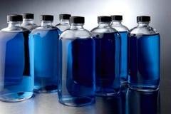 Blauwe chemische producten Royalty-vrije Stock Foto