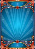 Blauwe circusachtergrond Stock Afbeeldingen