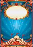 Blauwe circusachtergrond Stock Afbeelding