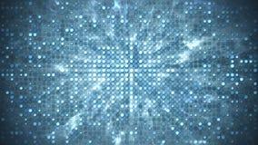Blauwe cirkel gloeilampen en rook abstracte achtergrond vector illustratie