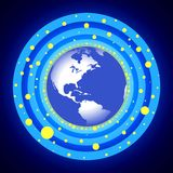 Blauwe cirkelAarde Royalty-vrije Stock Foto
