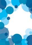 Blauwe cirkelachtergrond vector illustratie