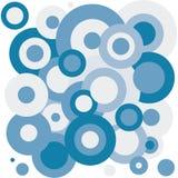 Blauwe cirkelachtergrond stock illustratie