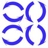 Blauwe cirkelpijlen Royalty-vrije Stock Foto