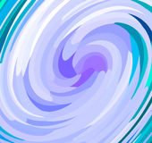 Blauwe cirkelrotatie Stock Fotografie