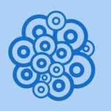 Blauwe cirkels Stock Foto's