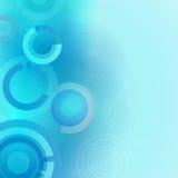 Blauwe Cirkelsachtergrond Stock Afbeelding