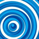 Blauwe cirkelsachtergrond. Vector. Stock Foto