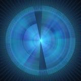 Blauwe cirkelsdekking 2 Stock Afbeeldingen
