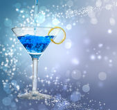 Blauwe cocktail Stock Foto