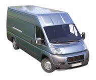 Blauwe commerciële leveringsbestelwagen Royalty-vrije Stock Foto