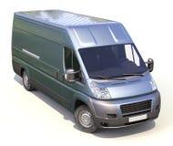 Blauwe commerciële leveringsbestelwagen Stock Fotografie