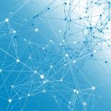 Blauwe communicatie achtergrond. Stock Fotografie