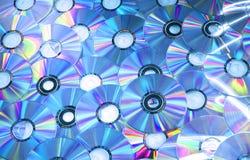 Blauwe compact-discs royalty-vrije stock foto