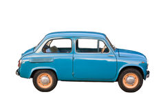 Blauwe compacte auto stock foto