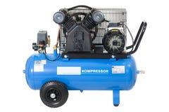 Blauwe compressor. stock foto