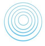 Blauwe concentrische ringen royalty-vrije illustratie