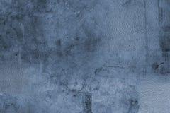 Blauwe concrete achtergrond Stock Foto