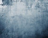 Blauwe concrete muur Royalty-vrije Stock Fotografie