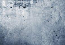 Blauwe concrete muur Royalty-vrije Stock Foto's