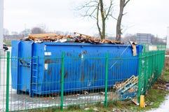 Blauwe container Stock Foto
