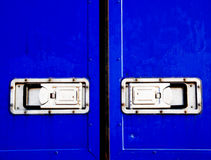 Blauwe container Stock Foto