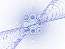 Blauwe correcte golven Stock Afbeelding